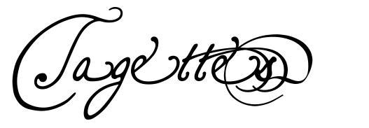 Tagettes 字形