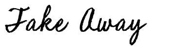 Take Away písmo