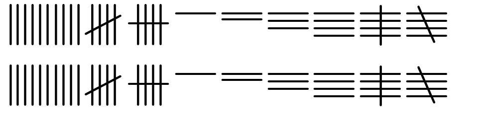 Tally Mark font