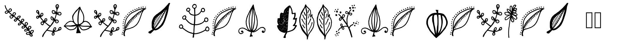 Tanaestel Doodle Leaves 01 font