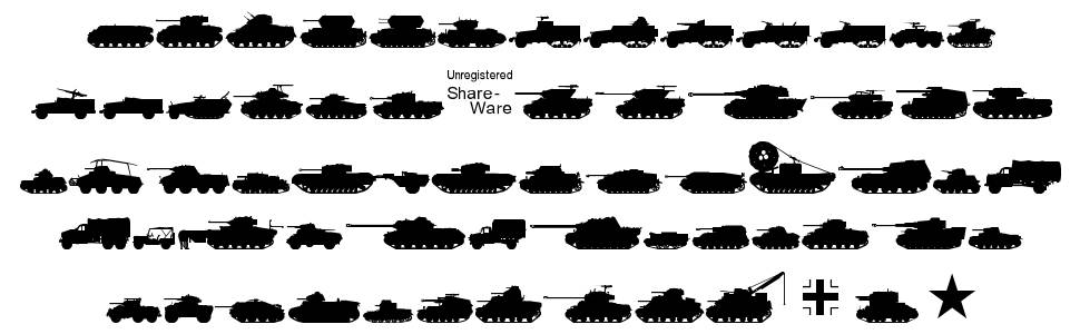 Tanks WW2 шрифт
