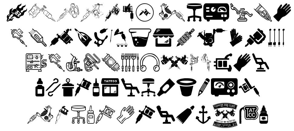 Tattoo Pro Icons font