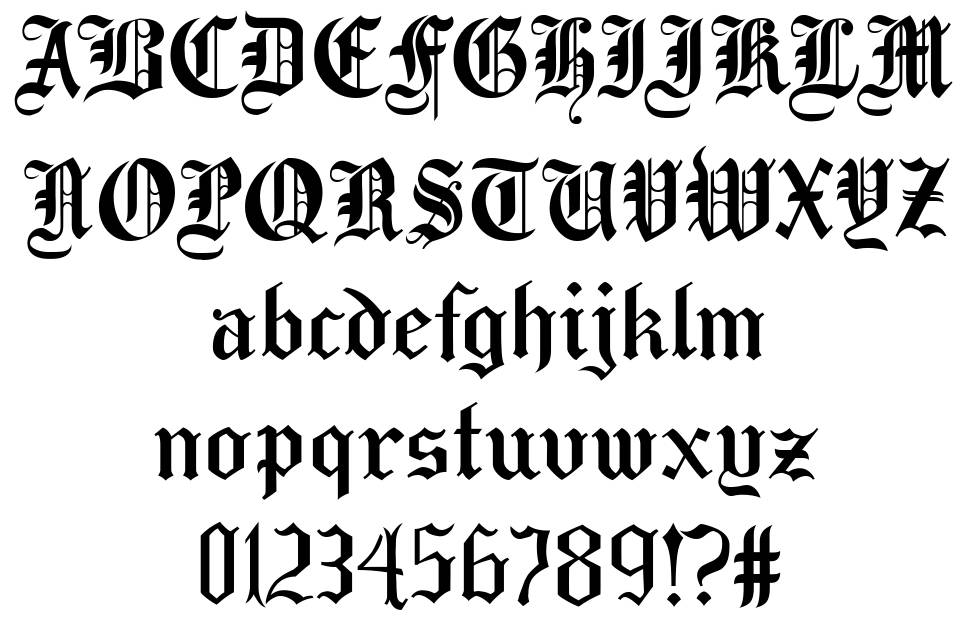 Taylor Gothic font