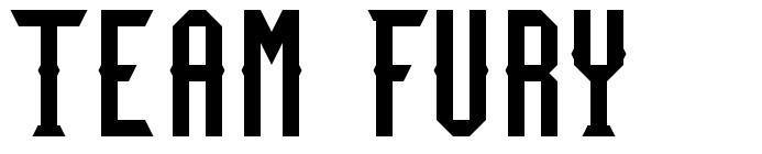 Team Fury шрифт