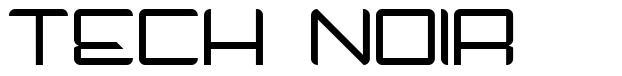 Tech Noir шрифт