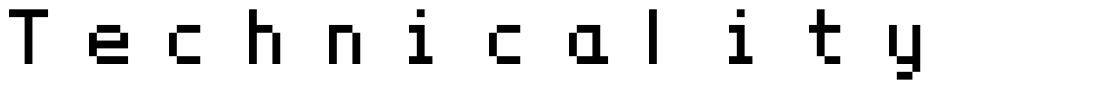 Technicality font