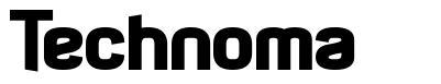 Technoma шрифт