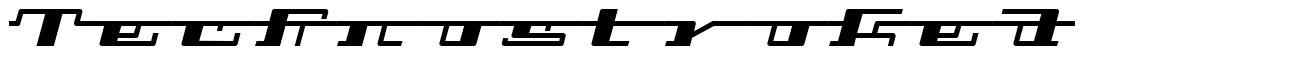 Technostroked font