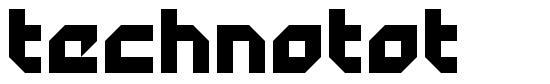 Technotot font