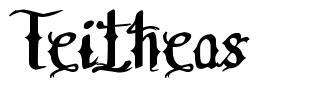 Teitheas 字形