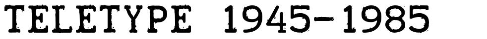 Teletype 1945-1985 字形