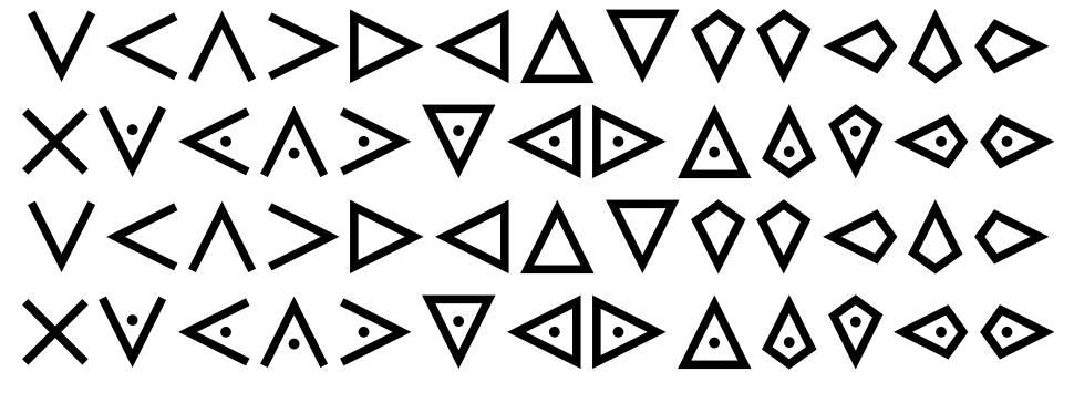 Templars Cipher Plus font