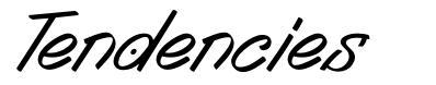 Tendencies font