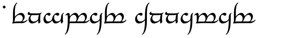 Tengwar Annatar font