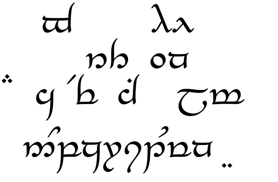 Tengwar Elesil font