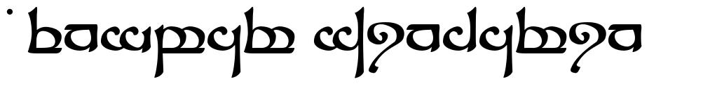 Tengwar Sindarin 字形