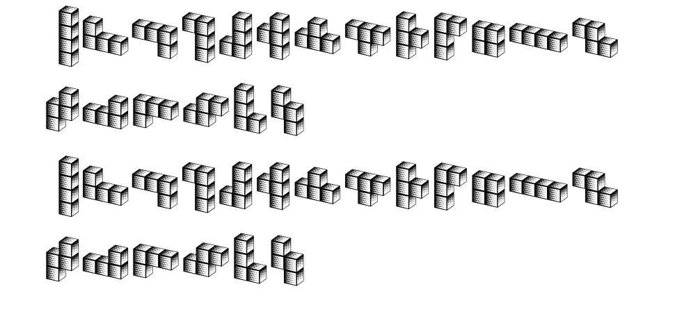 Tetriso font