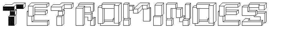 Tetrominoes font