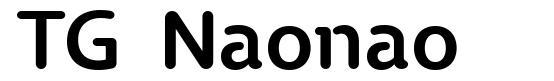 TG Naonao font