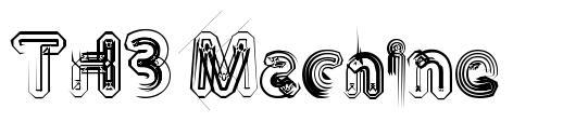TH3 Machine font