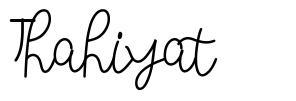 Thahiyat czcionkę