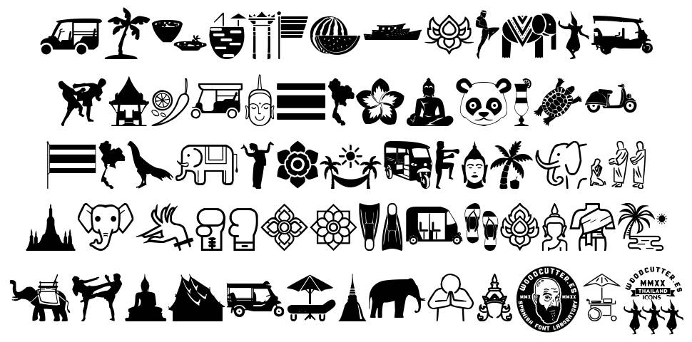 Thailand Icons font