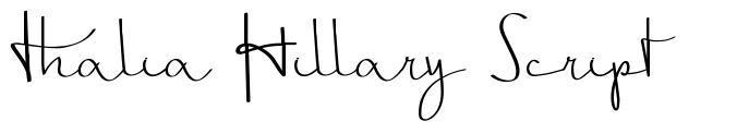 Thalia Hillary Script