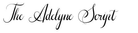 The Adelyne Script フォント