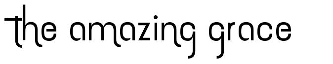 The amazing grace font
