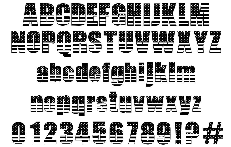The American font