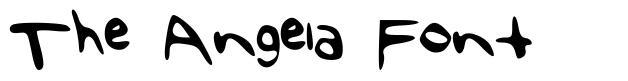The Angela Font font