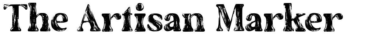 The Artisan Marker font
