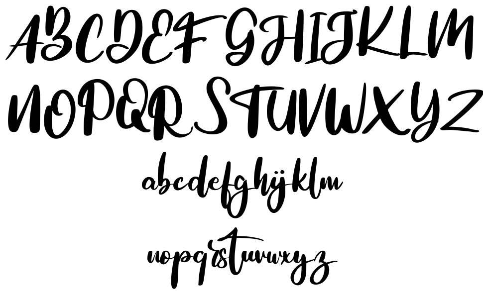 The Blog Malog czcionkę