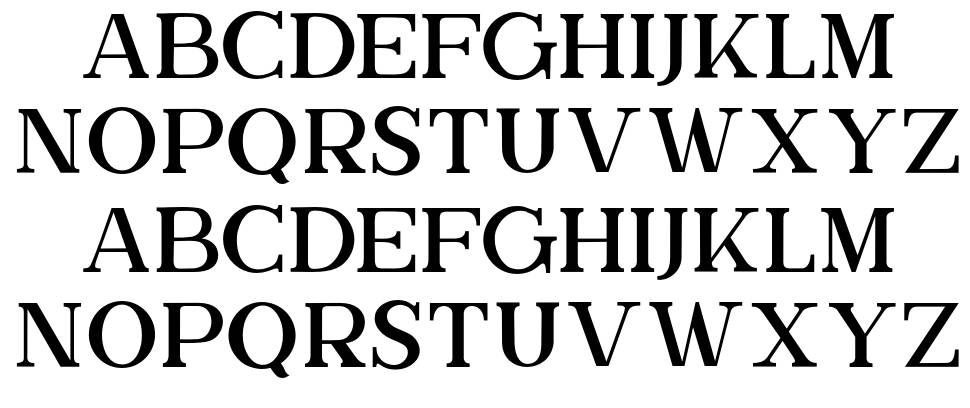 The Brittany Serif font
