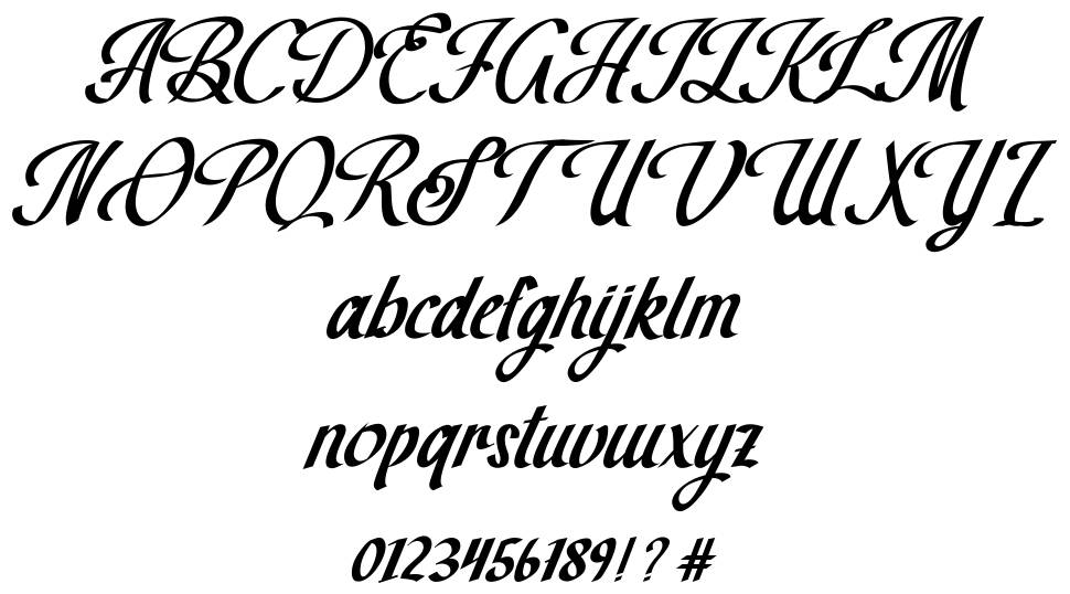 The Brown Wall font