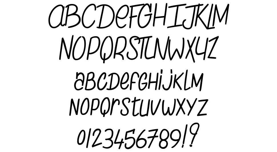 The Chicken love Story font