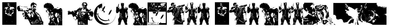 The Comedian Dingbats font