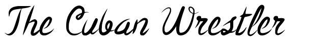 The Cuban Wrestler font