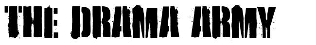 The Drama Army font