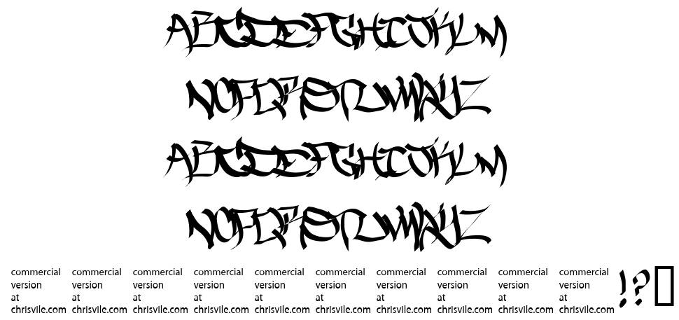 The Five One Two font