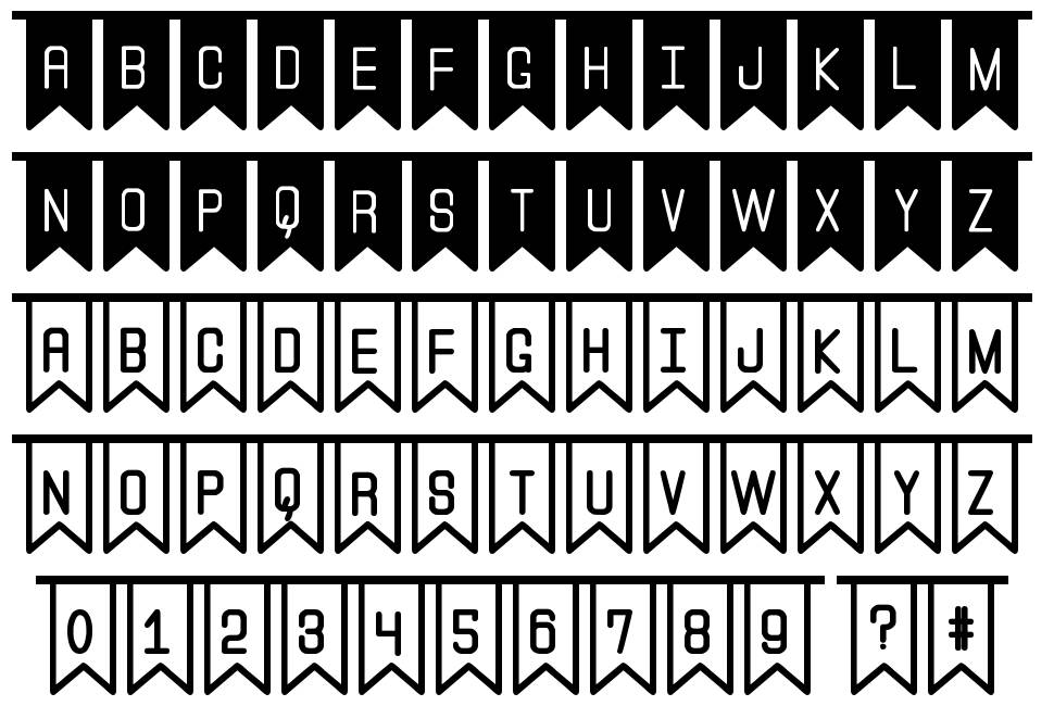 The Flaggy St font