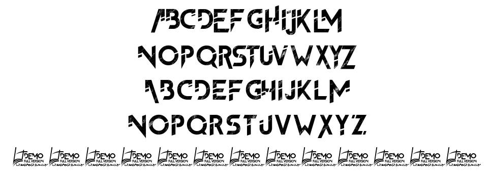 The FrontMan 2 font