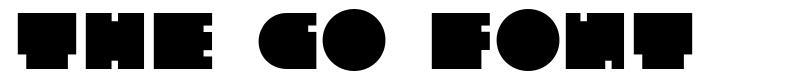The Go Font font