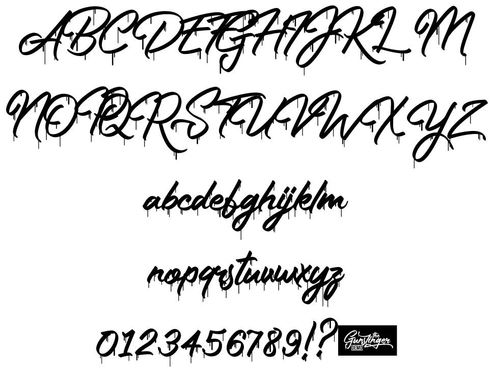 The Gunslinger Waterdrop font