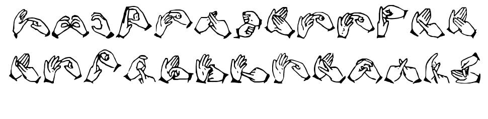 The Hands of Deaf font