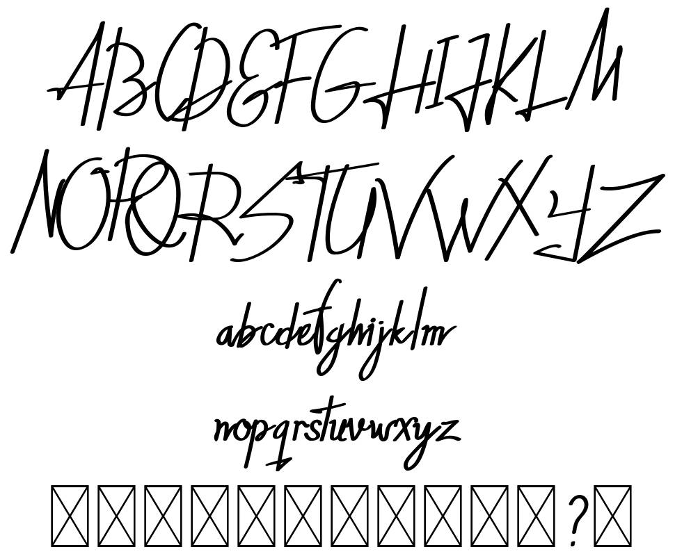 The Horsetto font