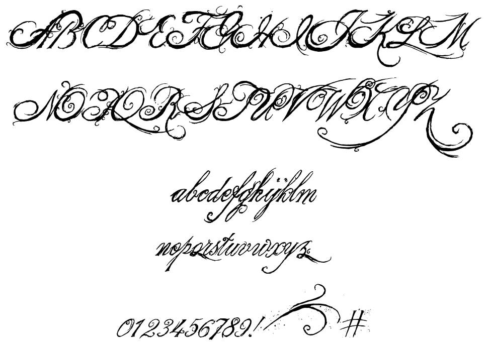 The King & Queen font 字形