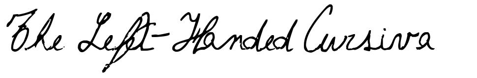 The Left-Handed Cursiva font