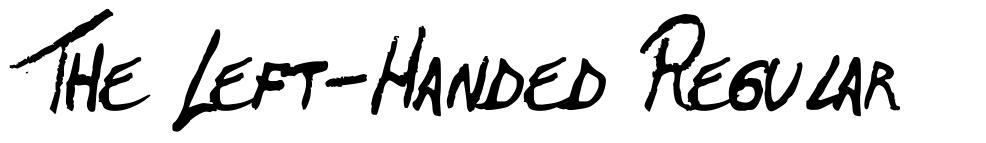 The Left-Handed Regular font