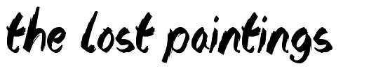 The Lost Paintings font